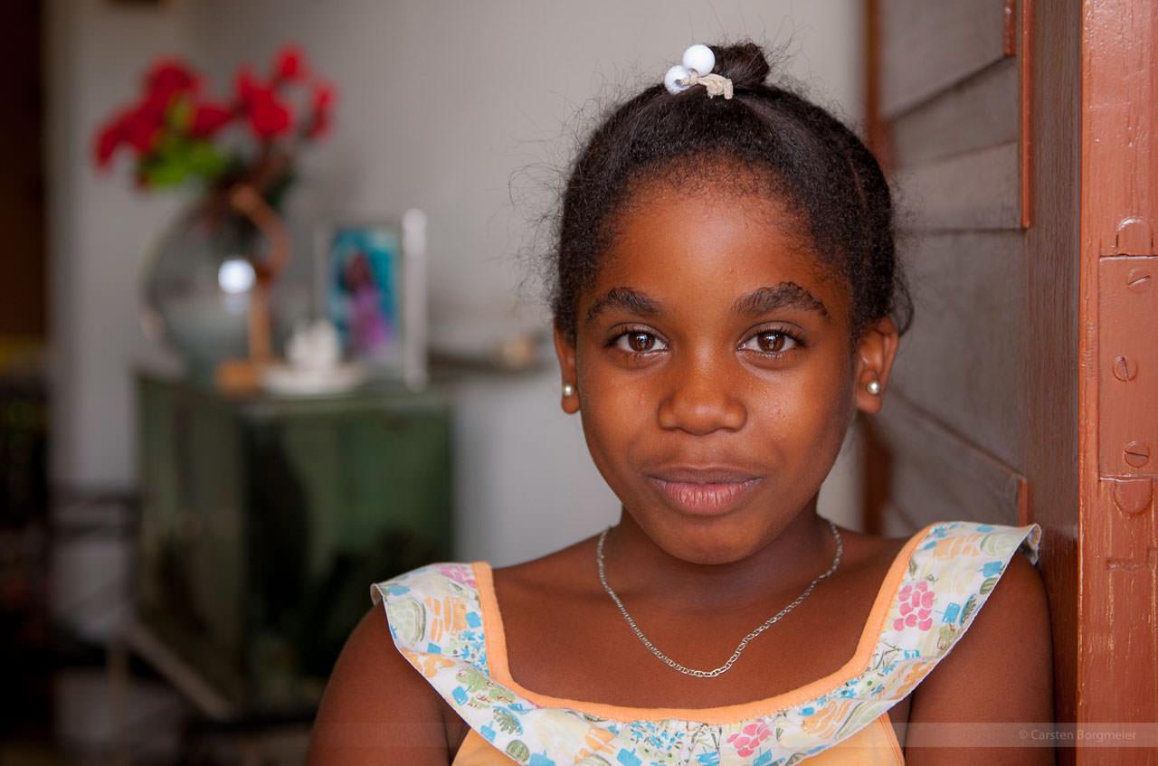 Mädchen in Guines, fotografiert am 29. Mai 2009.