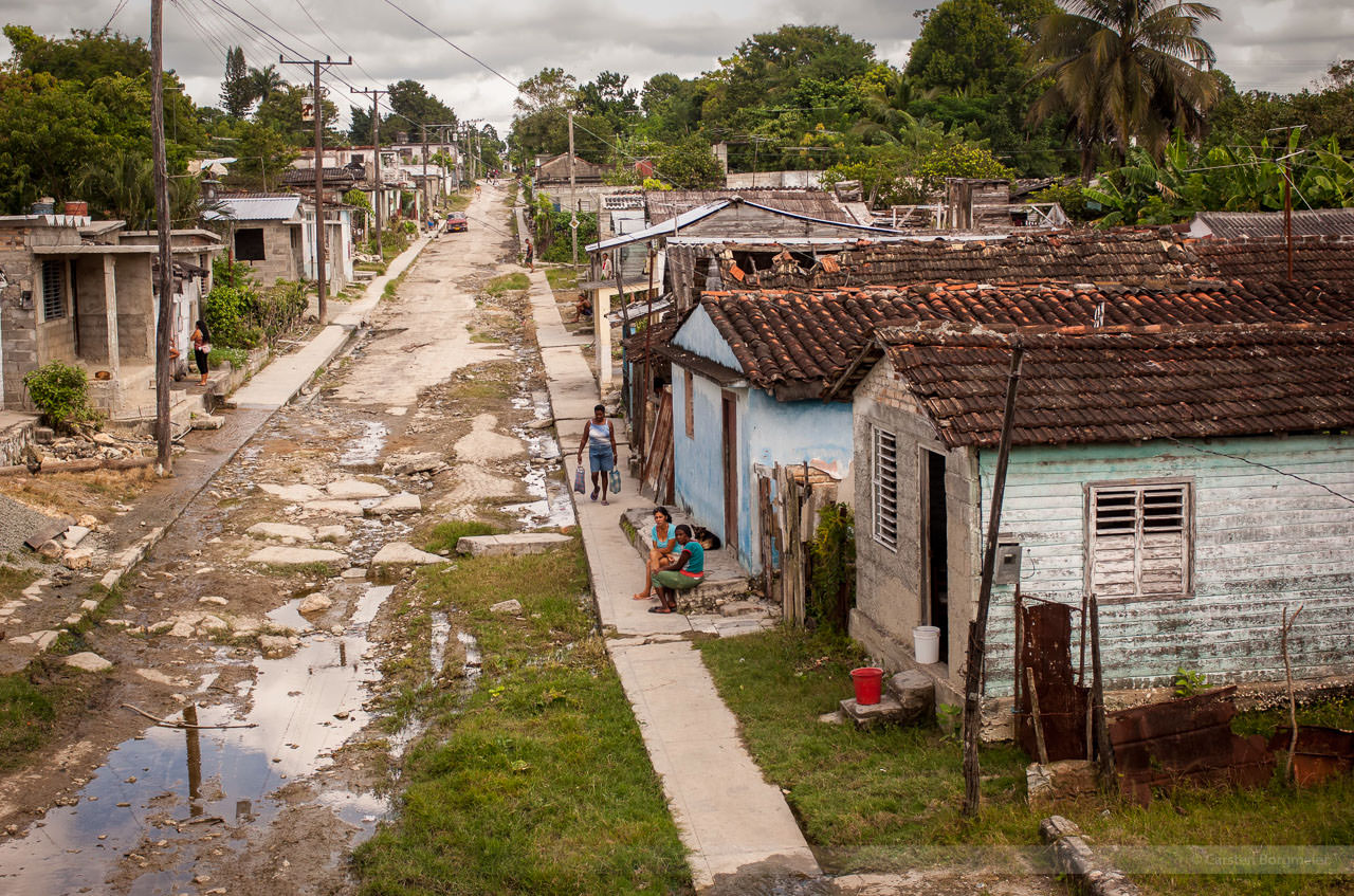 Wohnviertel in La Esperanza, fotografiert am 13. November 2007.