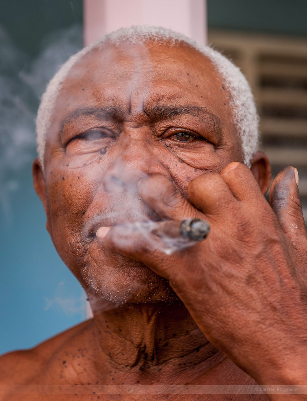 Drei Finger in der Zigarren-Produktion abgeschnitten, fotografiert in Vinales am 31. Mai 2009
