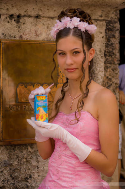 Mädchen feiert seinen 15. Geburtstag, Kuba, Mai 2008