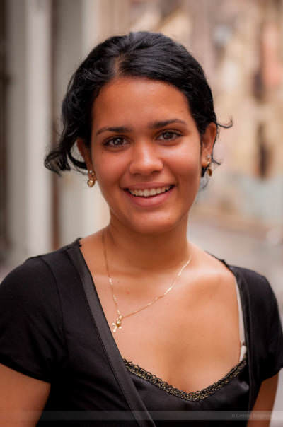 Kubanische Schönheit, fotografiert in Havanna am 28. Mai 2009.