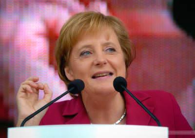Bundeskanzlerin Angela Merkel, Bielefeld, August 2005