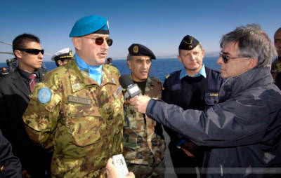 UNIFIL-Befehlshaber Generalmajor Claudio Graciano, Libanonküste, Januar 2008