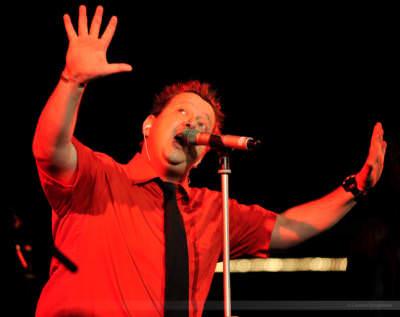 Sänger Sebastian Krumbiegel von der Band Die Prinzen, Rietberg, Juni 2008