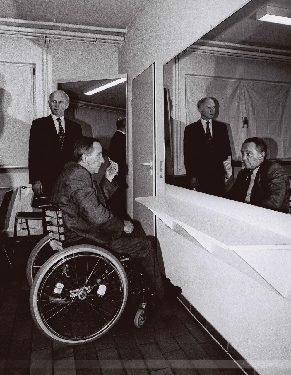 CDU-Bundespolitiker Wolfgang Schäuble und Hubert Deittert, Reethus Rheda-Wiedenbruck, Dezember 1995