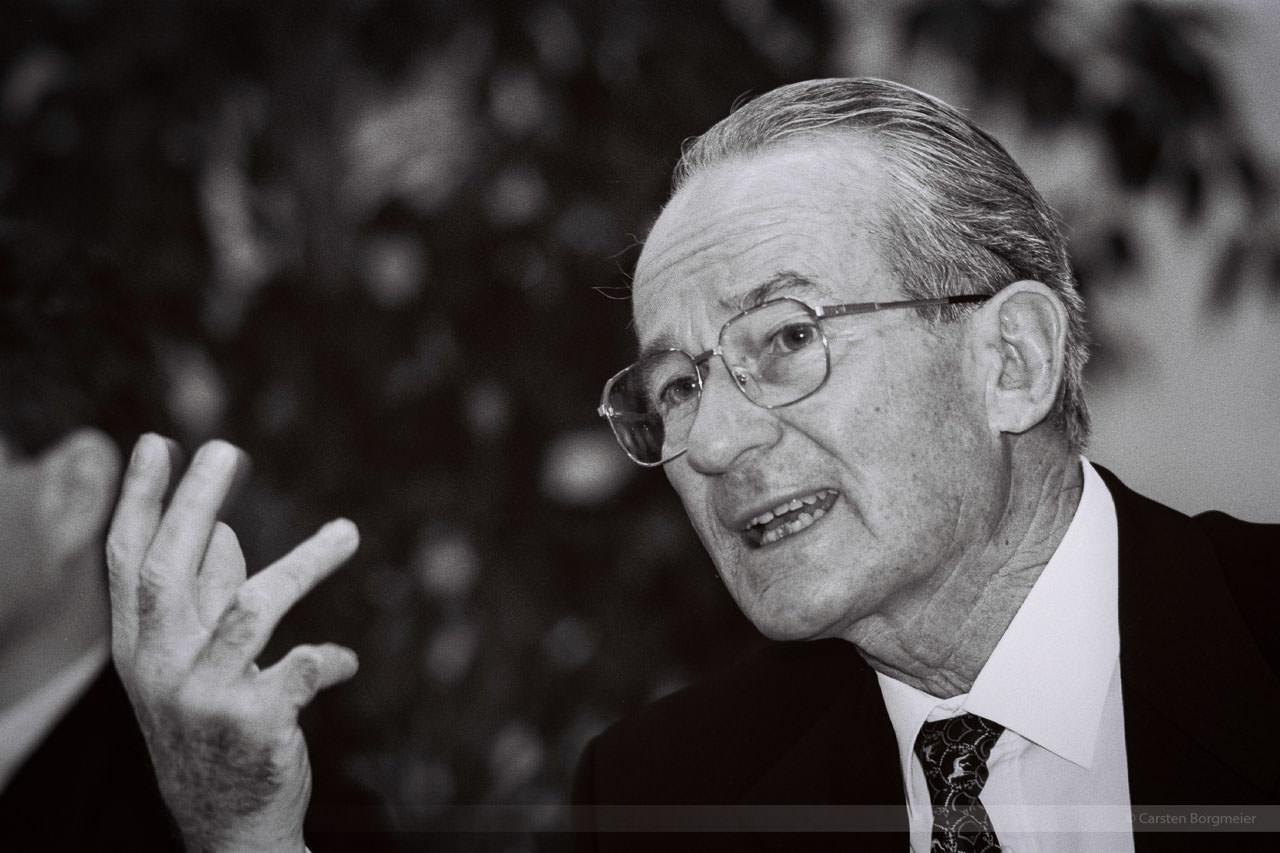 Bertelsmann-Patriarch Reinhard Mohn (1921 bis 2009), Gütersloh, Dezember 1995