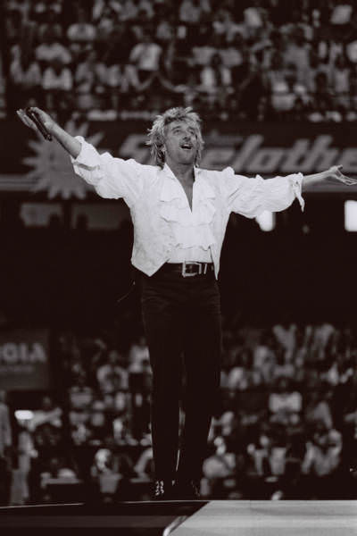 Brit-Poprocker Rod Stewart, Halle/Westfalen, 1997
