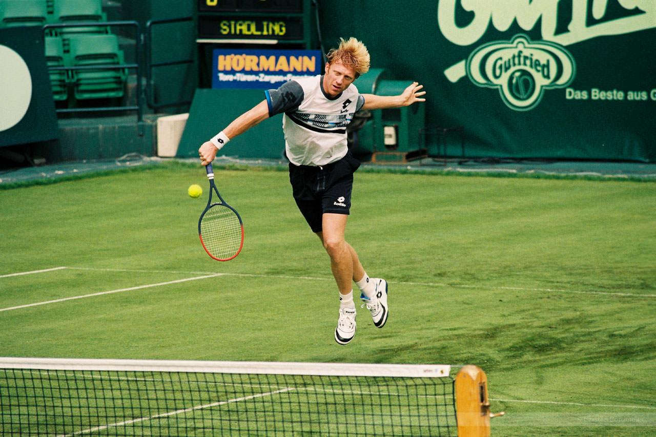 Tennis-Legende Boris Becker, Gerry-Weber-Open Halle, Sommer 1996
