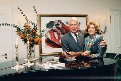 Ex-Bertelsmann-Manager Mark Wössner mit Ehefrau, Gütersloh, 1998
