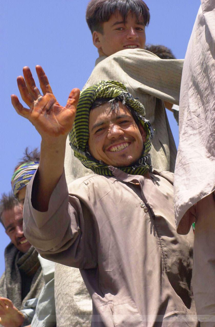 Auf der Jalalabad-Road bei Bagrame, Juli 2004