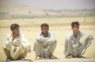 Waiting for a ride, Tangikalay, Afghanistan, July 2004