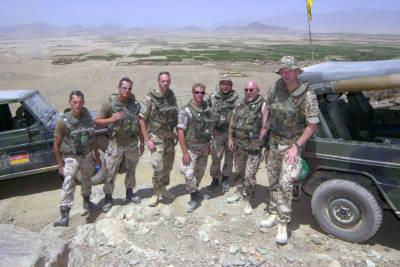 Reconnaissance team near Baktiaran, north of Kabul, Afghanistan, July 2004