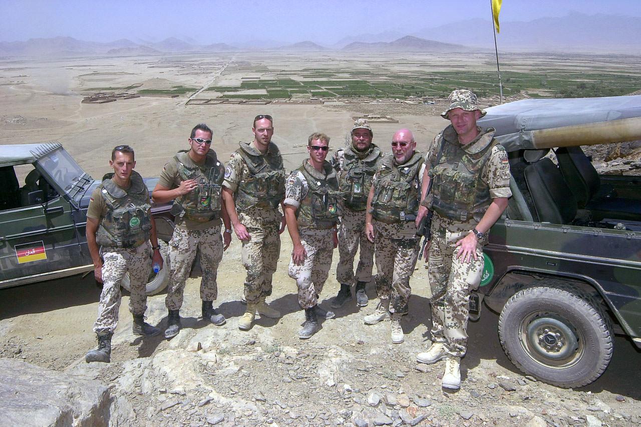 Aufklärungsteam bei Baktiaran, nördlich von Kabul, Afghanistan, Juli 2004
