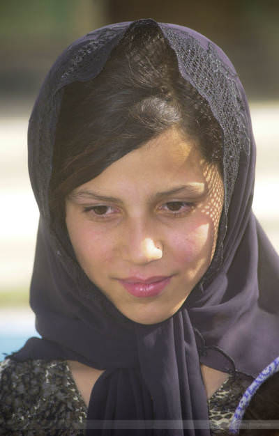 Girl in the district of Siah Sang, Kabul, July 2004