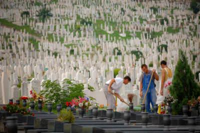 Friedhof von Sarajevo, Bosnien-Herzegowina, September 2005