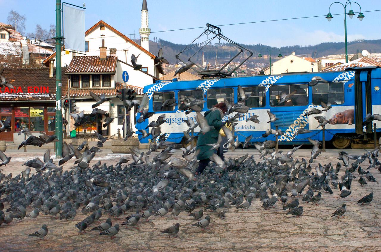 In der Bascarsija, Sarajevo, Bosnien-Herzegowina, Februar 2006