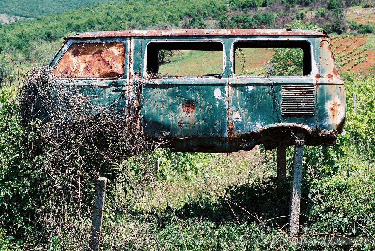 Bei Suva Reka, Kosovo, Mai 2000
