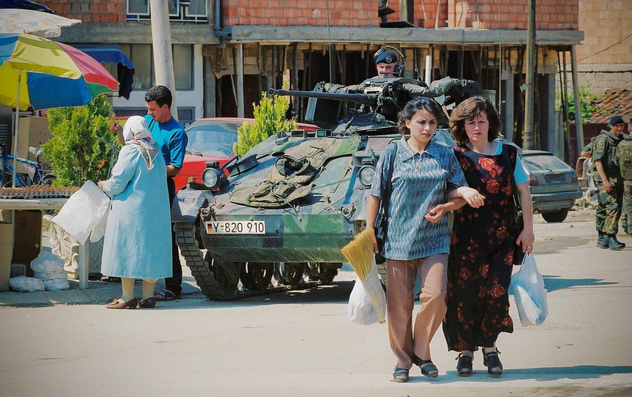 Alltag in Prizren, Kosovo, Mai 2000
