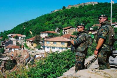 Oberhalb von Prizren, Kosovo, Mai 2000
